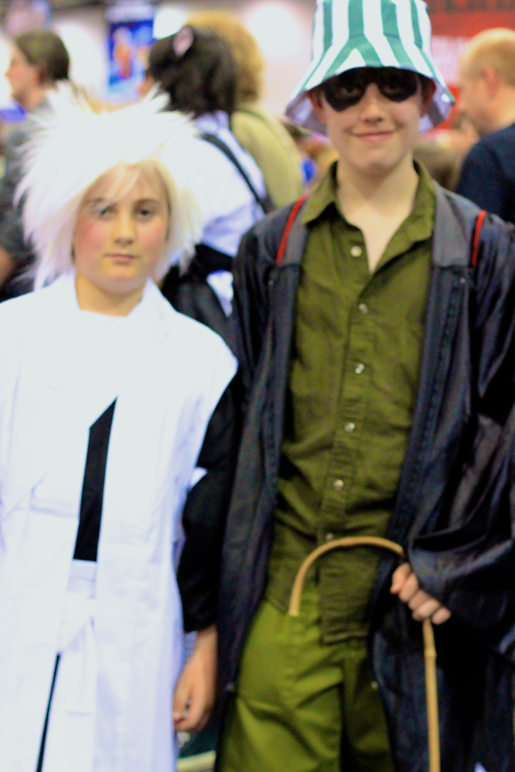 Toshiro and Urahara from Bleach