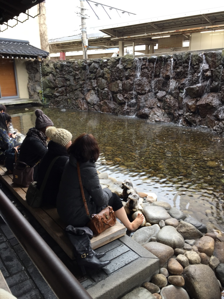 Kinosaki onsen foot baths