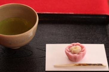Green tea and wagashi